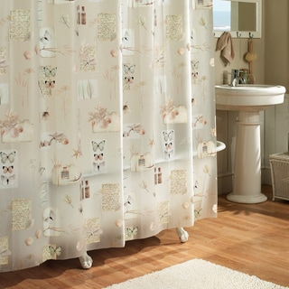 "Excell ""Natures Moments"" Floral Shower Curtain"