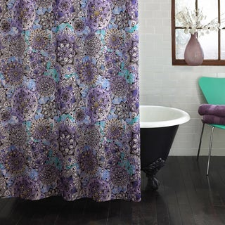 Bon Excell Ode To Geode Purple Shower Curtain