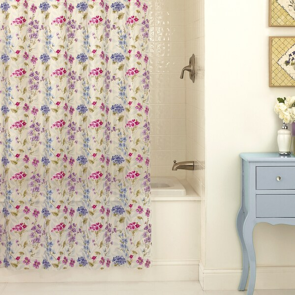 "Excell ""Les Fleur"" Flower Shower Curtain"