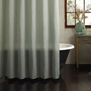 Excell Galloway Textured Shower Curtain