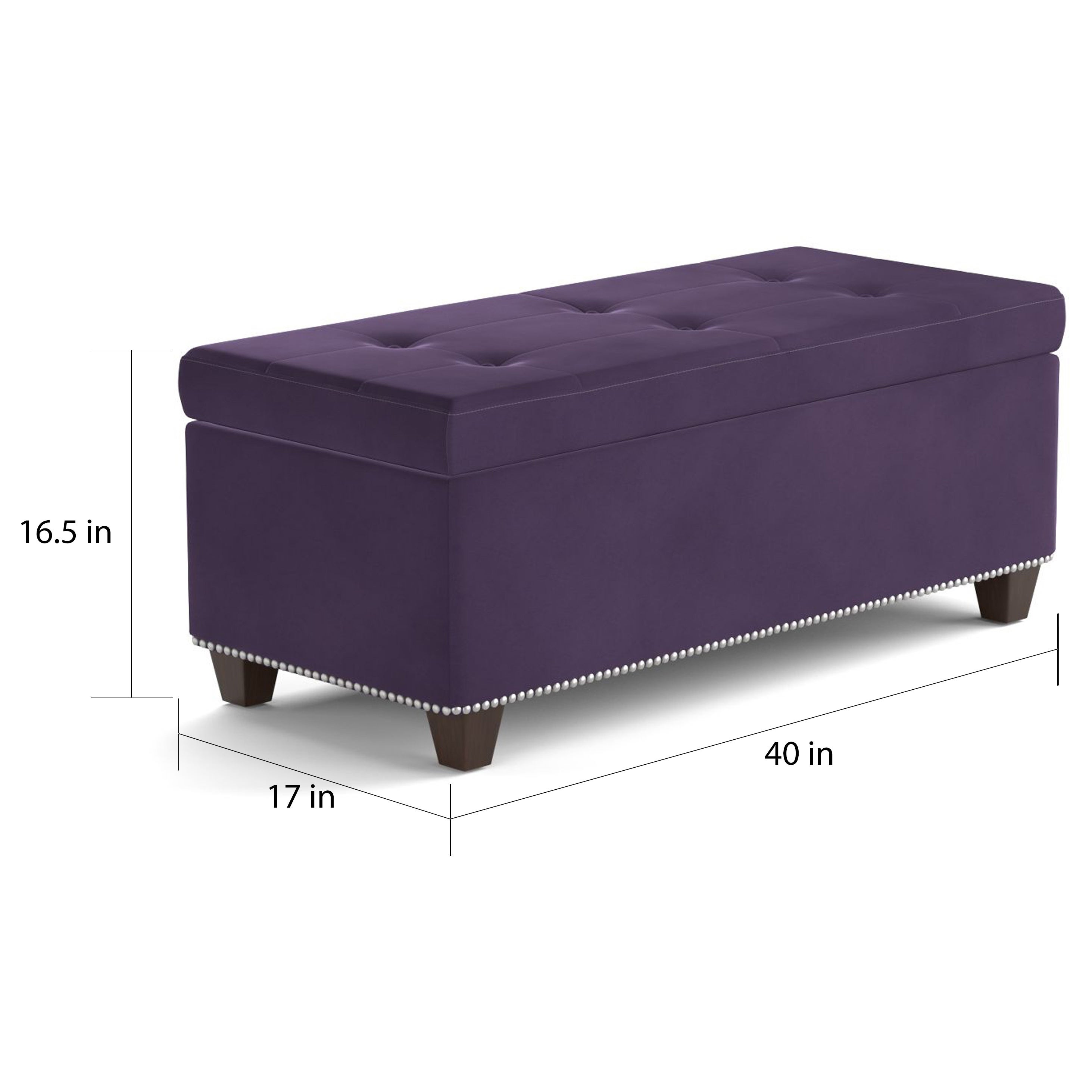 Purple ottoman with storage best storage design 2017 Purple storage bench