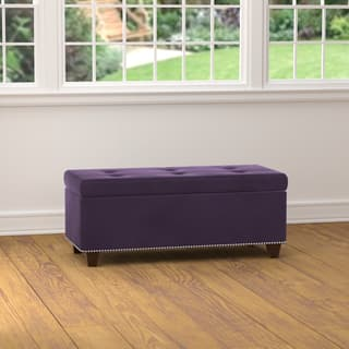 Handy Living Tufted Plum Purple Velvet Bench Storage Ottoman|https://ak1.ostkcdn.com/images/products/12121411/P18981047.jpg?impolicy=medium