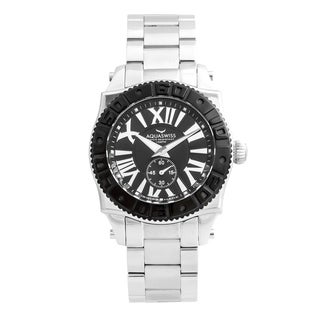 Aquaswiss 62G0128Swissport G Black/Silver Stainless Steel/Sapphire-coated Mineral Unisex Watch