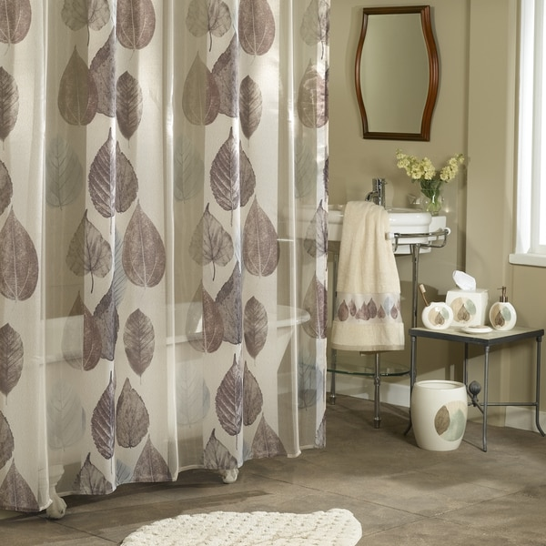 Excell Gossamer Leaf Shower Curtain