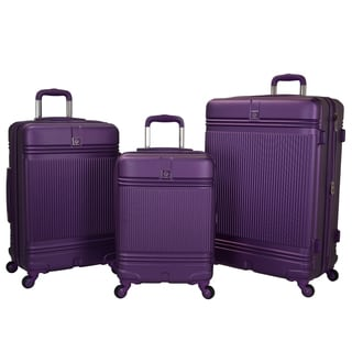Travelers Club Multicolor ABS Accent 3-piece Hardside Expandable Spinner Luggage Set
