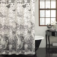 Excell Tateez Mermaid Print Fabric Shower Curtain