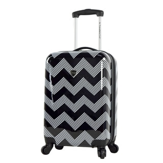 Travelers Club Madison Polycarbonate 20-inch Chevron Expandable Hardside Carry-on Spinner Suitcase