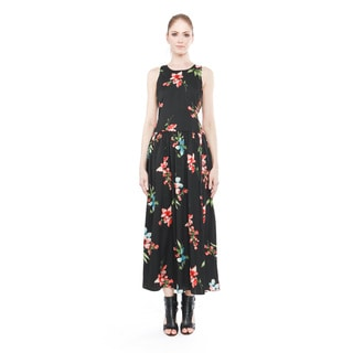 Derdra Women's Multicolor Flower-print Polyester Dress