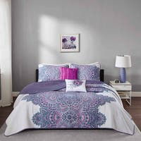 Intelligent Design Katarina Purple Coverlet Set