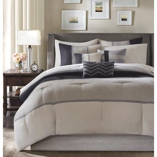 Madison Park Hanover Black Comforter Set