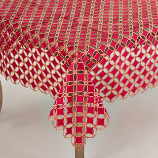 Buche de Noel Collection Cutwork Design Tablecloth