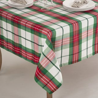 Vernor Collection Plaid Design Holiday Tablecloth