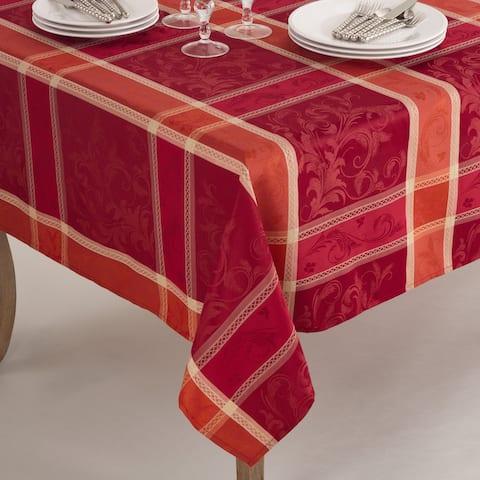 Pumpion Collection Plaid Design Tablecloth