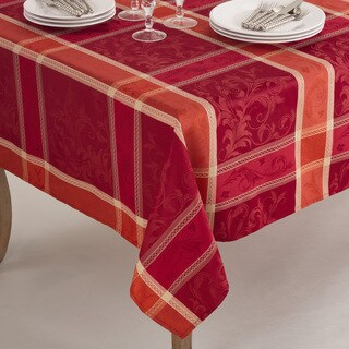 Pumpion Collection Plaid Design Tablecloth