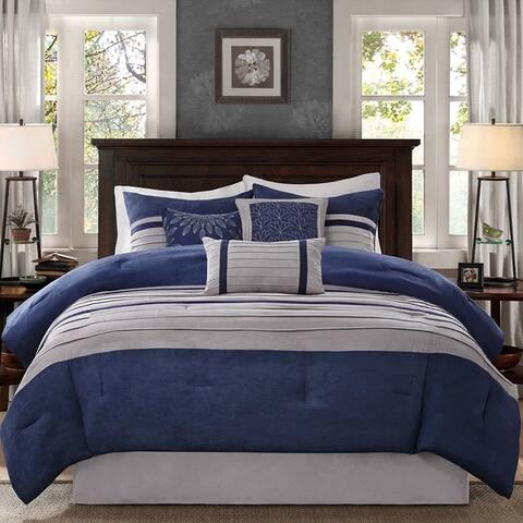 Madison Park Turner Blue Comforter Set