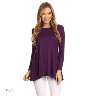 MOA Collection Women's Rayon/Spandex Solid Dolman Top