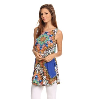 MOA Collection Women's Ornate Paisley Tank Top