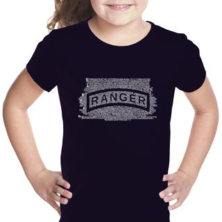 Los Angeles Pop Art Girls' The US Ranger Creed Cotton T-shirt