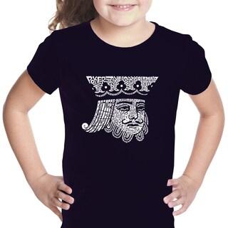 Girls' King of Spades Cotton T-shirt