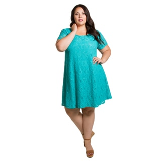 Sealed with a Kiss Women's Plus Size Kaye Lace Dress (Option: White)