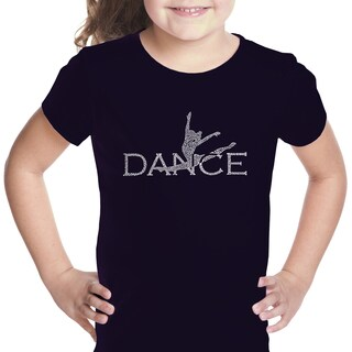 Los Angeles Pop Art Girl's Dancer Cotton T-shirt (More options available)