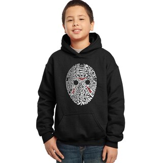 Los Angeles Pop Art Boys' Slasher Movie Villians Blue/Red/Black Cotton/Polyester Hooded Sweatshirt