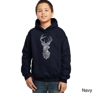 Los Angeles Pop Art Boy's Types of Dear Cotton and Polyester Hooded Sweatshirt (More options available)
