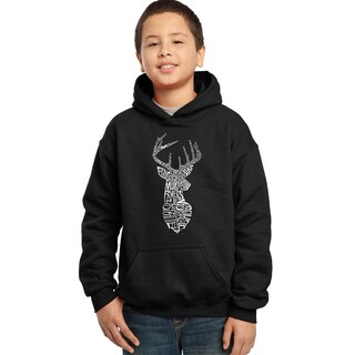 Los Angeles Pop Art Boy's Types of Dear Cotton and Polyester Hooded Sweatshirt