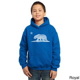 Los Angeles Pop Art Boys' California Bear Cotton/Polyester Hooded Sweatshirt (More options available)