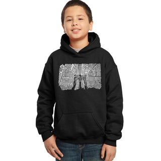 Los Angeles Pop Art Boys Brooklyn Bridge Cotton/Polyester Hooded Sweatshirt