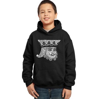 Los Angeles Pop Art Boys' King of Spades Cotton/Polyester Hooded Sweatshirt