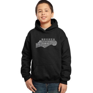 Los Angeles Pop Art Boys Black Cotton/Polyester Graphic Hooded Sweatshirt