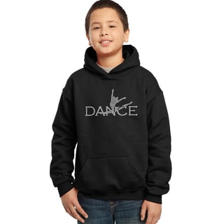 Los Angeles Pop Art Boy's Black Cotton, Polyester Graphic Hooded Sweatshirt