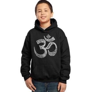 Boy's Om Poses Hooded Sweatshirt