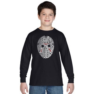 Los Angeles Pop Art Boys Slasher Movie Villians Multicolor Cotton Long-sleeve T-shirt