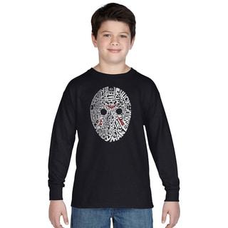 Los Angeles Pop Art Boys Slasher Movie Villians Multicolor Cotton Long-sleeve T-shirt