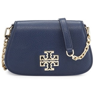 Tory Burch Britten Royal Navy Mini Clutch Crossbody Handbag