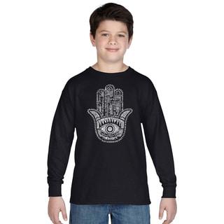 Boys' Hamsa Long-sleeve Cotton T-shirt