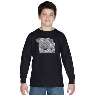 Boys' Pug Face Cotton Long-sleeve T-shirt|https://ak1.ostkcdn.com/images/products/12121576/P18981189.jpg?impolicy=medium