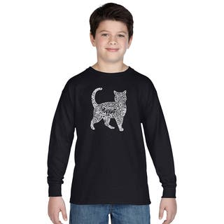 Los Angeles Pop Art Boys' Cat Multicolor Cotton Long Sleeve T-shirt|https://ak1.ostkcdn.com/images/products/12121578/P18981190.jpg?impolicy=medium