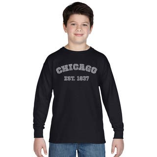 Los Angeles Pop Art Boys' Black Cotton Graphic Long-sleeve T-shirt|https://ak1.ostkcdn.com/images/products/12121583/P18981194.jpg?impolicy=medium