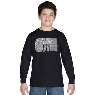 Boys Brooklyn Bridge Long-sleeve Cotton T-shirt