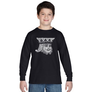 Boy's King of Spades Long Sleeve T-Shirt