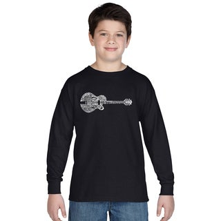 Boys' Country Guitar Cotton Long Sleeve Shirt
