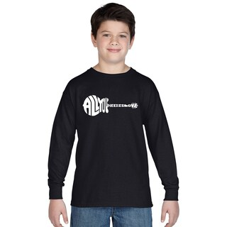 Boys' All You Need Is Love Long Sleeve Cotton T-Shirt