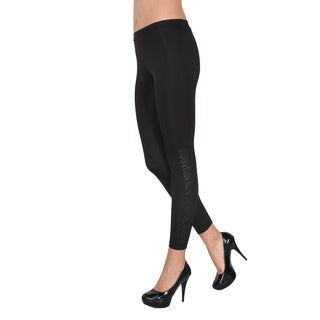 Pierre Cardin Black Jessamine Leggings with Quilted Calves