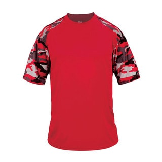 Camo Sport Youth Red/Red Camouflage Polyester T-shirt