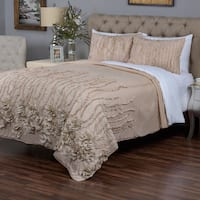 Kalyana Cappuccino Collection Quilt By Arden Loft King Size (As Is Item)