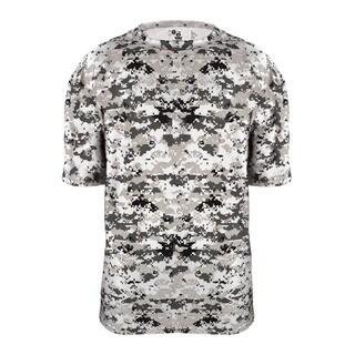 Boy's Digital Youth White/Grey/Black Polyester T-Shirt