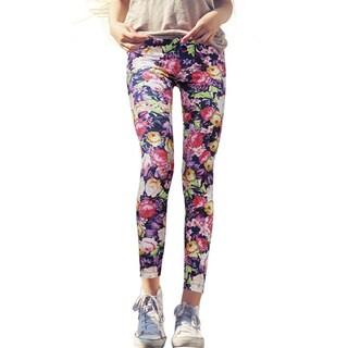Pierre Cardin Women's Vento Floral Velour Super Stretchy Leggings